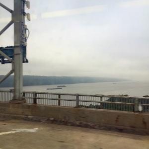 Hudson River im Morgennebel