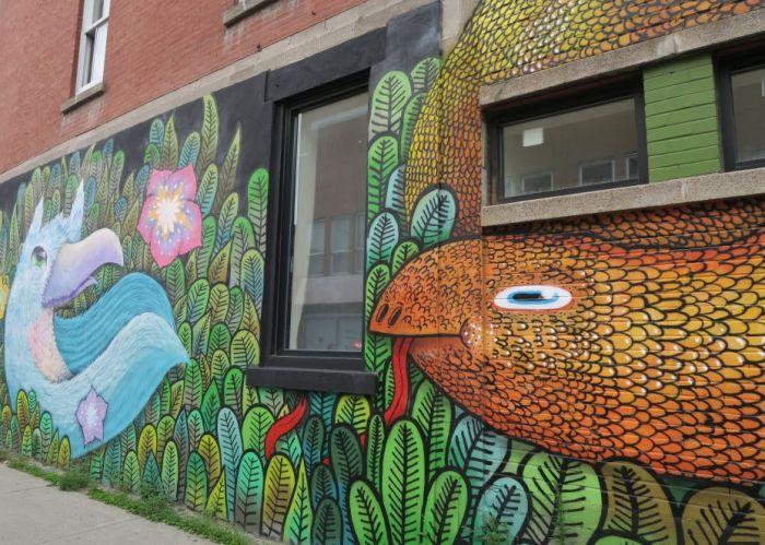 Wandbild mit Reptilien