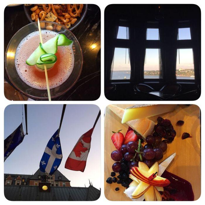 Am letzten Abend: Cocktails mit Aussicht im Château Frontenac